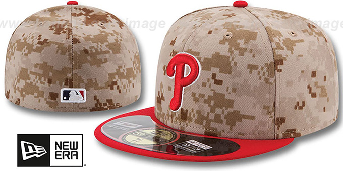 Phillies '2014 STARS N STRIPES' Fitted Hat by New Era : pictured without stickers that these products are shipped with