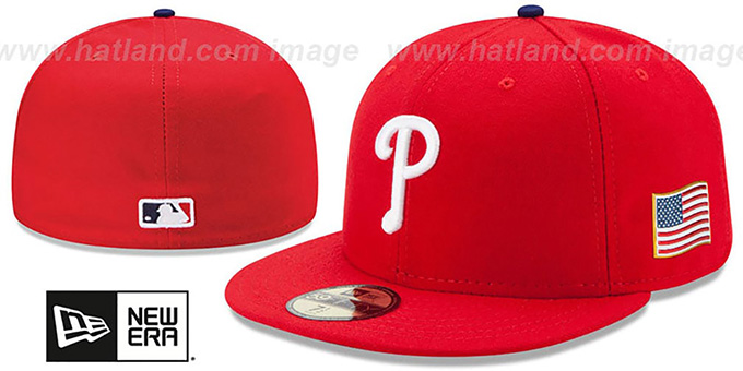 Phillies '2015 STARS-N-STRIPES 911 GAME' Hat by New Era : pictured without stickers that these products are shipped with