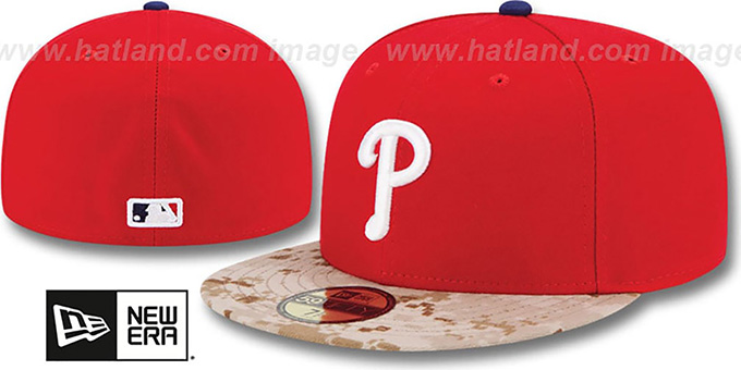 Phillies '2015 STARS N STRIPES' Fitted Hat by New Era : pictured without stickers that these products are shipped with