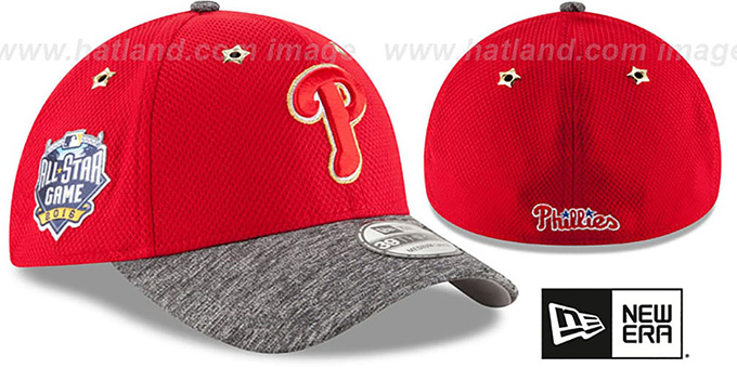 Phillies '2016 MLB ALL-STAR GAME FLEX' Hat by New Era : pictured without stickers that these products are shipped with