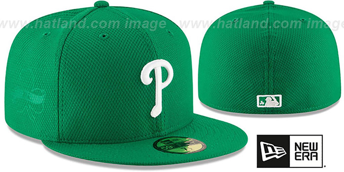 Phillies '2016 ST PATRICKS DAY' Hat by New Era : pictured without stickers that these products are shipped with