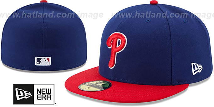 Phillies '2017 ONFIELD ALTERNATE' Hat by New Era : pictured without stickers that these products are shipped with