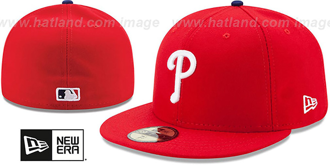 uk availability 3d56c 6006e Phillies  AC-ONFIELD GAME  Hat by New Era. Click Thumbnails for Alternate  ...