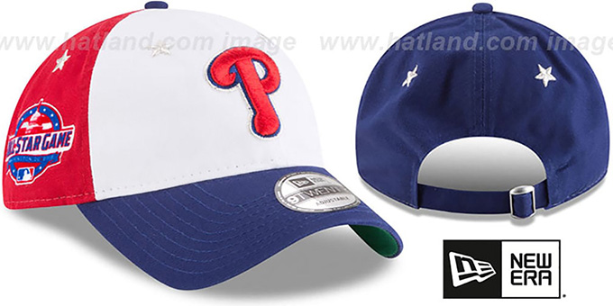 Phillies '2018 MLB ALL-STAR GAME STRAPBACK' Hat by New Era : pictured without stickers that these products are shipped with