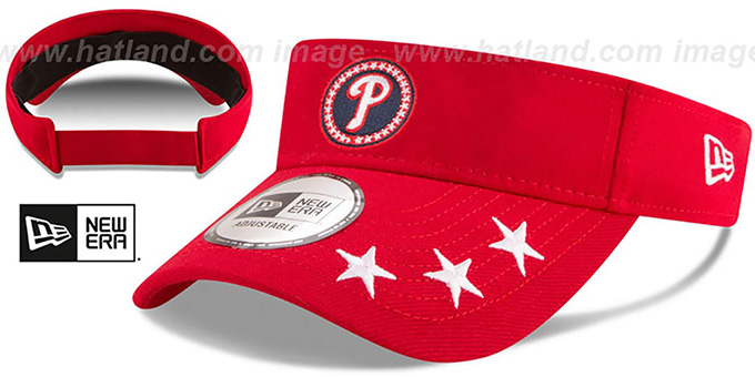 Phillies '2018 MLB ALL-STAR WORKOUT VISOR' by New Era