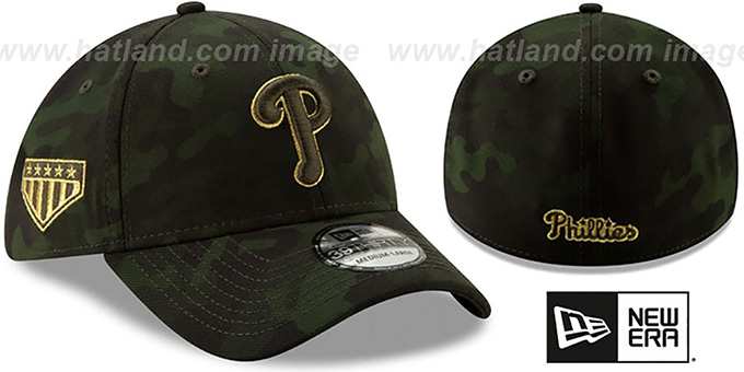 Phillies 2019 ARMED FORCES 'STARS N STRIPES FLEX' Hat by New Era