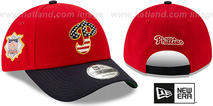 Phillies '2019 JULY 4TH STARS N STRIPES STRAPBACK' Hat by New Era