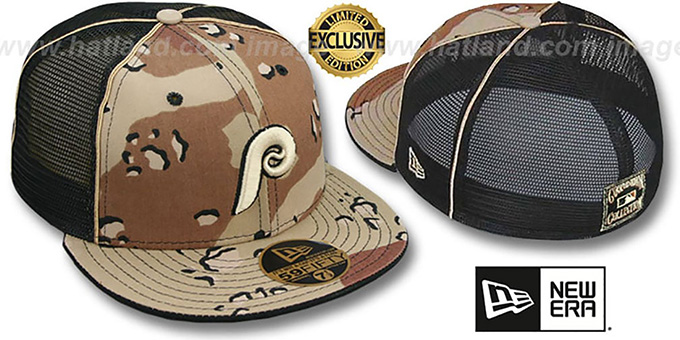 classic fit 68261 1b0b5 Phillies COOP  DESERT STORM MESH-BACK  Fitted Hat by ...