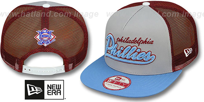 Phillies COOP 'MARK-MESH A-FRAME SNAPBACK' Hat by New Era : pictured without stickers that these products are shipped with