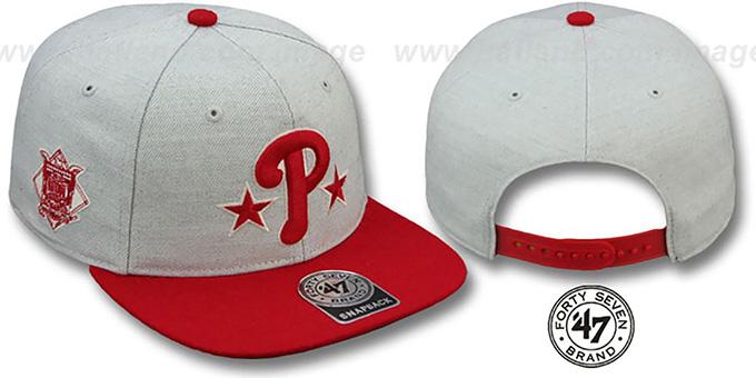 4540aa07cff Phillies COOP  SATCHEL SNAPBACK  Adjustable Hat by Twins 47 Brand