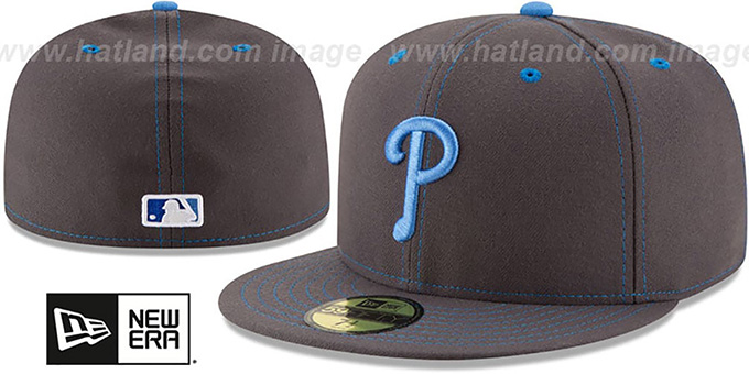 Phillies 'FATHERS DAY' Fitted Hat by New Era : pictured without stickers that these products are shipped with
