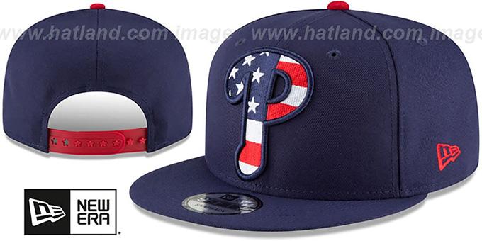 Philadelphia Phillies FLAG FILL INSIDER SNAPBACK Navy Hat 579225835ea6