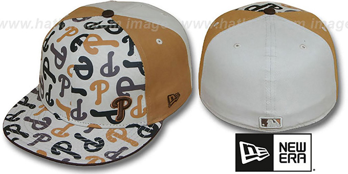 Phillies 'FLAWLESS COLLAGE' Fitted Hat by New Era : pictured without stickers that these products are shipped with