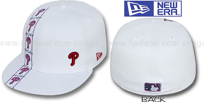 Phillies 'FLAWLESS CUBANO' White Fitted Hat by New Era : pictured without stickers that these products are shipped with