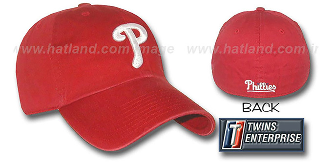 Phillies 'FRANCHISE' Hat by Twins - red : pictured without stickers that these products are shipped with