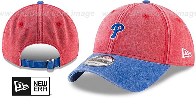 Phillies 'GW RUGGED CANVAS STRAPBACK' Red-Royal  Hat by New Era