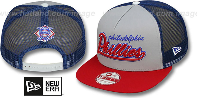 Phillies 'MARK-MESH A-FRAME SNAPBACK' Hat by New Era : pictured without stickers that these products are shipped with
