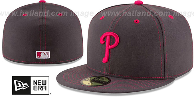 Phillies 'MOTHERS DAY' Fitted Hat by New Era : pictured without stickers that these products are shipped with
