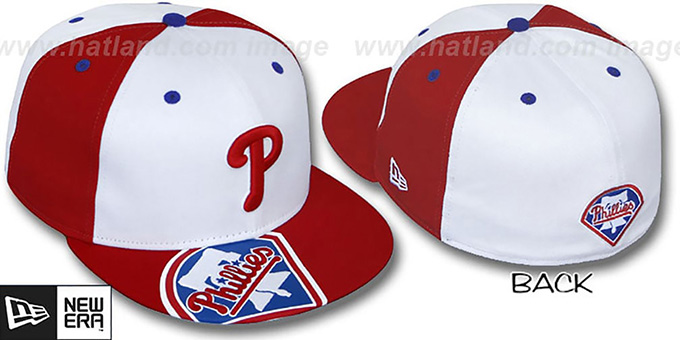 Phillies 'ORLANTIC' White-Red Fitted Hat by New Era : pictured without stickers that these products are shipped with