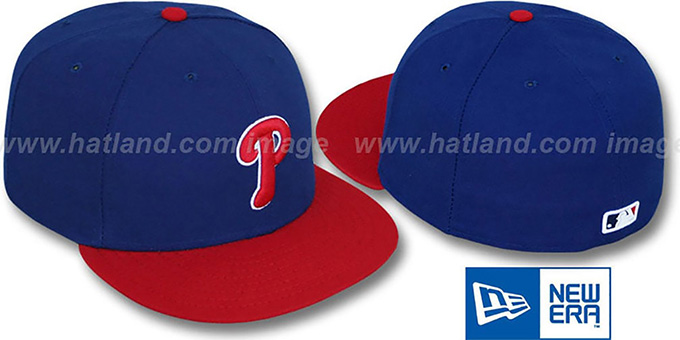 Phillies 'PERFORMANCE ALTERNATE' Hat by New Era : pictured without stickers that these products are shipped with