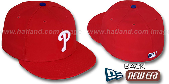 Phillies 'PERFORMANCE GAME' Hat by New Era : pictured without stickers that these products are shipped with