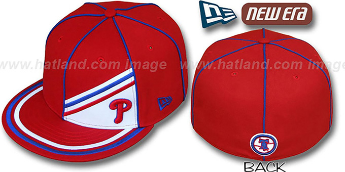 Phillies 'PROREV' Fitted Hat by New Era : pictured without stickers that these products are shipped with