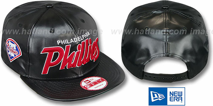 Phillies 'REDUX SNAPBACK' Black Hat by New Era : pictured without stickers that these products are shipped with