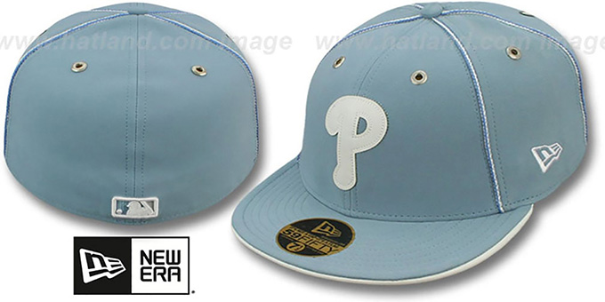 Phillies 'SKY BLUE DaBu' Fitted Hat by New Era : pictured without stickers that these products are shipped with