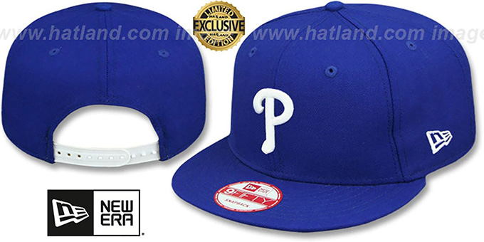 Phillies 'TEAM-BASIC SNAPBACK' Royal-White Hat by New Era : pictured without stickers that these products are shipped with