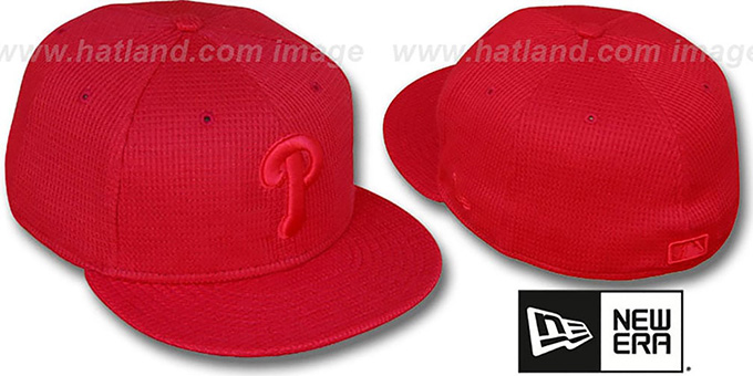 Phillies 'THERMAL REDOUT' Fitted Hat by New Era : pictured without stickers that these products are shipped with