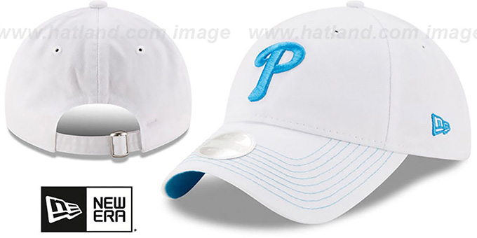 Phillies 'WOMENS POP PREFERRED PICK STRAPBACK' White-Blue Hat by New Era : pictured without stickers that these products are shipped with