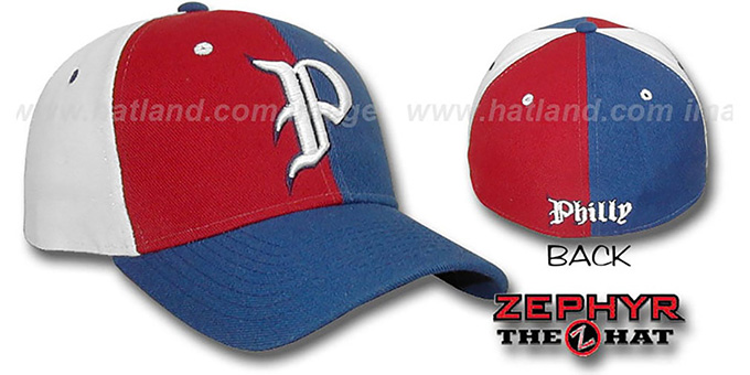 PHILLY 'PINWHEEL' Fitted Hat by Zephyr : pictured without stickers that these products are shipped with