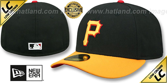 Pirates '2001 LOW-CROWN VINTAGE' Black-Gold Fitted Hat by New Era