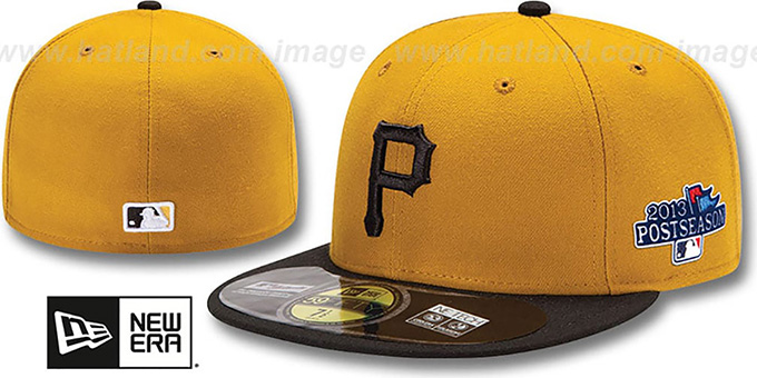 Pirates '2013 POSTSEASON' ALTERNATE-2 Hat by New Era : pictured without stickers that these products are shipped with