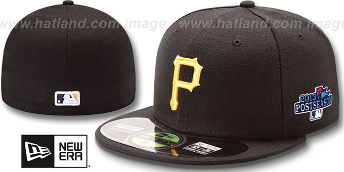 Pirates '2013 POSTSEASON' GAME Hat by New Era : pictured without stickers that these products are shipped with
