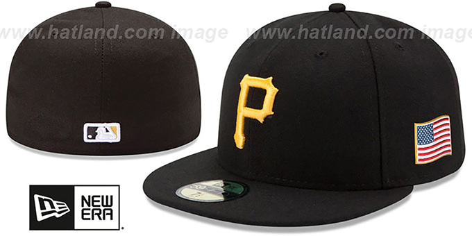 Pirates '2015 STARS-N-STRIPES 911 GAME' Hat by New Era : pictured without stickers that these products are shipped with