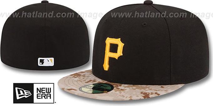 Pirates '2015 STARS N STRIPES' Fitted Hat by New Era : pictured without stickers that these products are shipped with