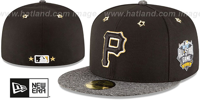 Pirates '2016 MLB ALL-STAR GAME' Fitted Hat by New Era : pictured without stickers that these products are shipped with