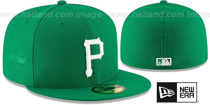 Pirates '2016 ST PATRICKS DAY' Hat by New Era : pictured without stickers that these products are shipped with