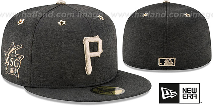 Pirates '2017 MLB ALL-STAR GAME' Fitted Hat by New Era : pictured without stickers that these products are shipped with