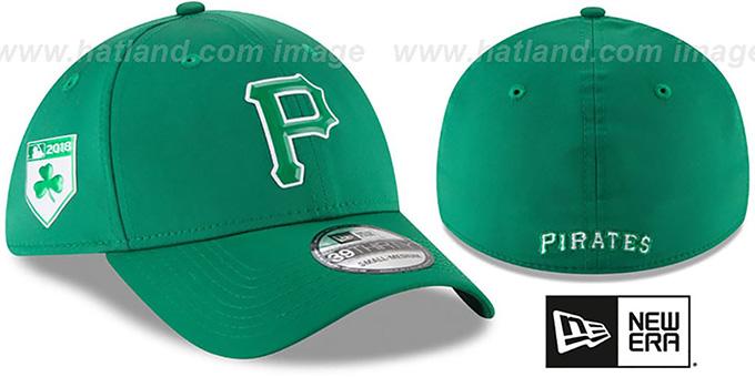separation shoes 4b2f8 07f47 Pirates  2018 ST PATRICKS DAY FLEX  Hat by New Era