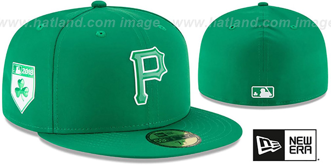 Pirates '2018 ST PATRICKS DAY' Hat by New Era : pictured without stickers that these products are shipped with