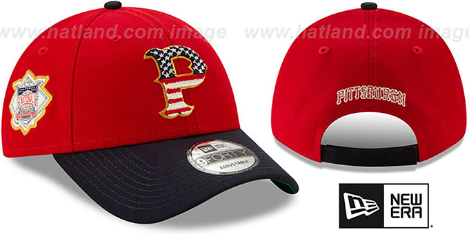 Pirates '2019 JULY 4TH STARS N STRIPES STRAPBACK' Hat by New Era