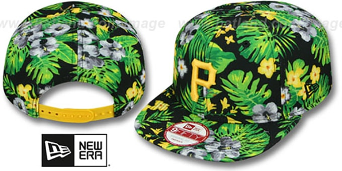 Pirates 'BLOOM SNAPBACK' Hat by New Era : pictured without stickers that these products are shipped with