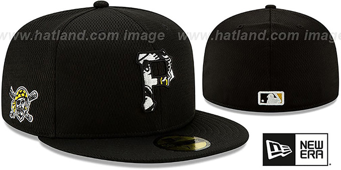 Pirates 'DASHMARK BP' Black Fitted Hat by New Era