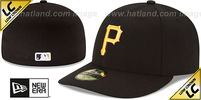 Pirates 'LOW-CROWN' HOME Fitted Hat by New Era : pictured without stickers that these products are shipped with