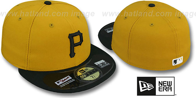 Pirates 'PERFORMANCE ALTERNATE-2' Hat by New Era : pictured without stickers that these products are shipped with