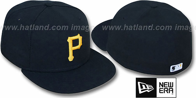Pirates 'PERFORMANCE GAME' Hat by New Era : pictured without stickers that these products are shipped with