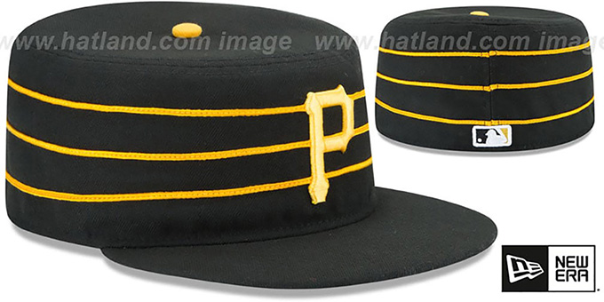 Pirates 'PERFORMANCE PILLBOX ALTERNATE - 2' Hat by New Era : pictured without stickers that these products are shipped with