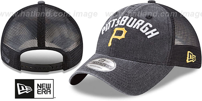 Pirates 'RUGGED-TEAM TRUCKER SNAPBACK' Black Hat by New Era